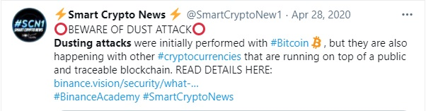 Crypto Dusting Attacks and Clever Ways to Prevent It