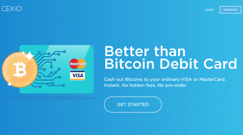 CEX.IO - 5 Best Crypto Debit Cards You Need to Have