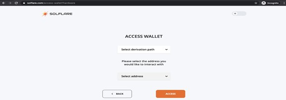 Solflare wallet -  derivation path