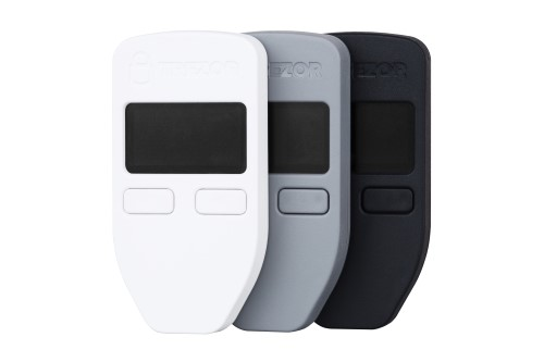 Trezor One and Trezor Model T Bitcoin Hardware Wallets